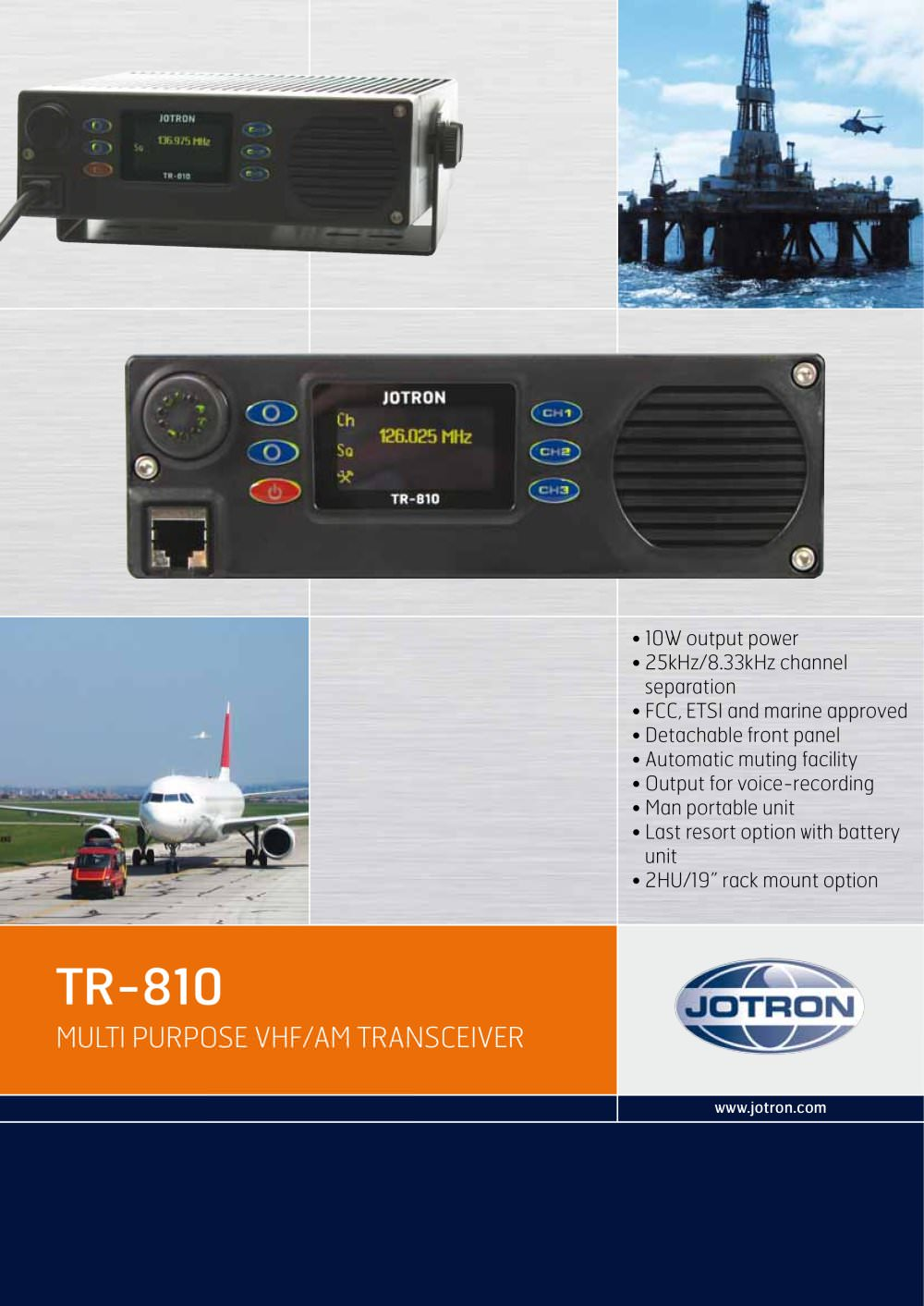 Jotron Tr 810 Multi Purpose Vhf Am Airband Transceiver